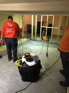 Water Damage Tallapoosa Technicians Cleaning Carpet After A Flood
