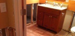 Mold Infested Bathroom
