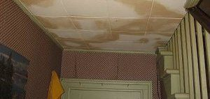 Water Stains On Ceiling After An Upstairs Flood