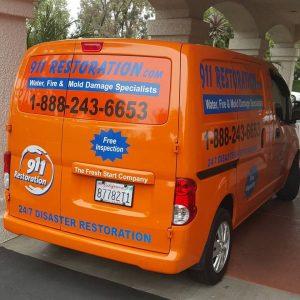 911 Restoration Work Van